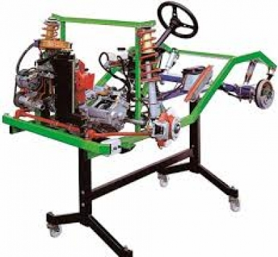 Chassis with Carburettor Petrol Engine Cutaway