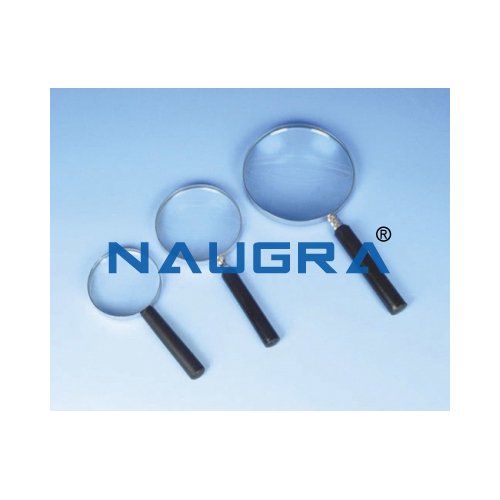 Biology Lab Reading Glass Magnifier Metal Frame 10/20 cm