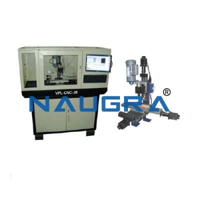 Naugra Lab CNC Milling Machine with Cabinet and PC