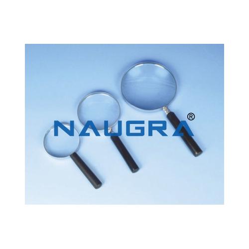Biology Lab Reading Glass Magnifier Metal Frame 6/15 cm