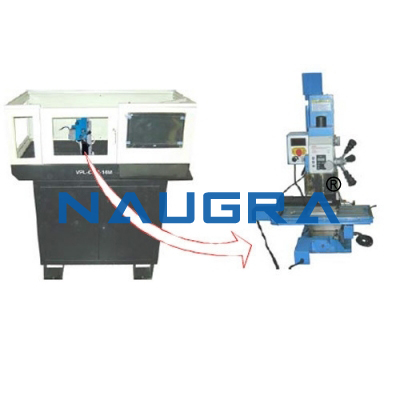 Naugra Lab CNC Lathe Machine with Cabinet and PC