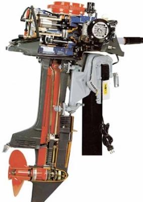 2-stroke Marine Outboard Engine Cutaway