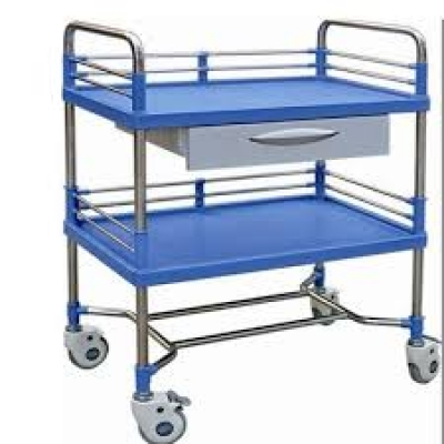 Instrument Treatment Trolley ABS 2 Shelves