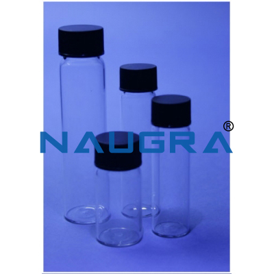 Tall Screw Neck Vial - Neutral Glass, Tall Form, With Closure