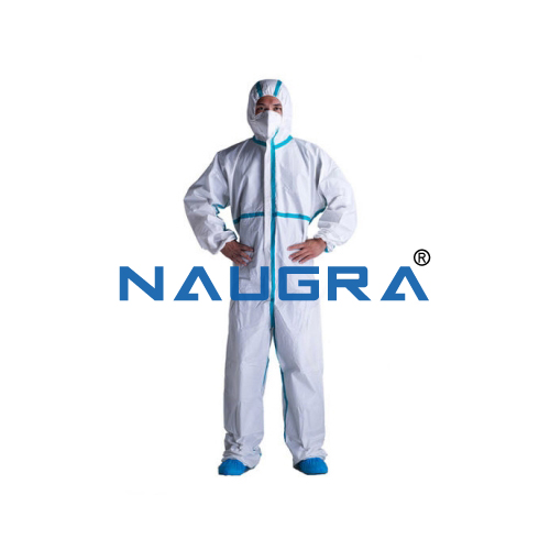 Disposable Protective Coveralls , 63 GSM