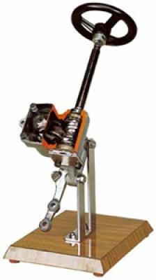 Steering Box with Hourglass Screw Cutaway