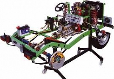 Chassis with DOHC Multipoint EFI Petrol Engine Cutaway