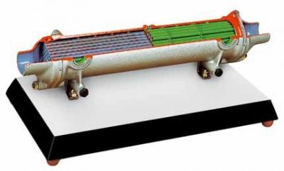 Intercooler Heat Exchanger Cutaway