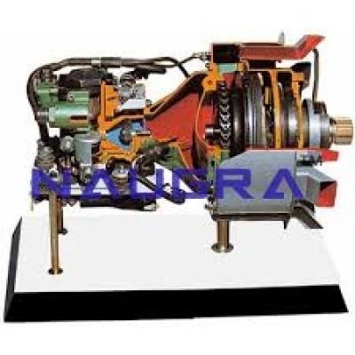 Opposed-piston Engine Cutaway