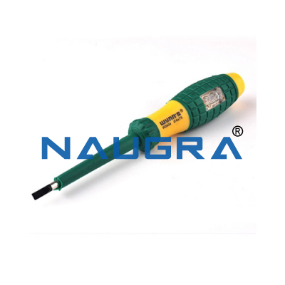 Electrical test screwdriver