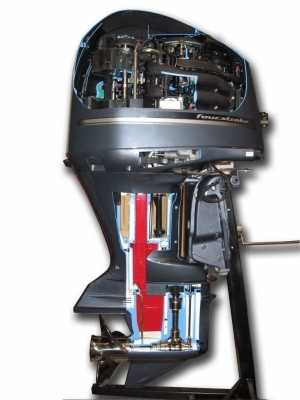 4-stroke Marine Outboard Engine Cutaway
