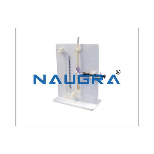 Biology Lab Potometer Apparatus White Stand